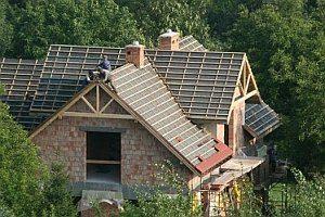 Возведение крыши дома